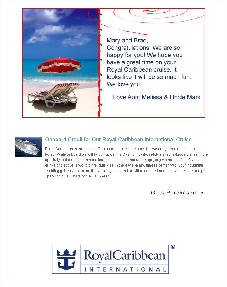 casino royale cruise certificate