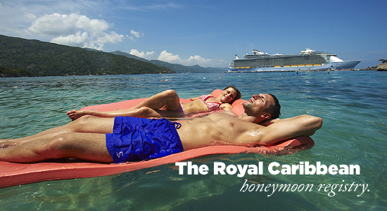 The Royal Caribbean honeymoon registry