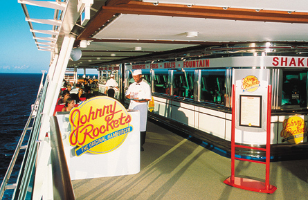 Dining at Johnny Rockets